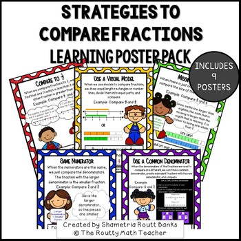 Strategies to Compare Fractions Poster Pack