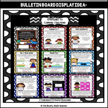 Comparing Fractions Strategies Learning Posters and Bulletin Board Pack
