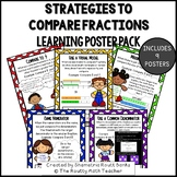 Comparing Fractions Strategies Learning Posters and Bullet