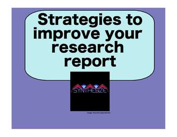 Strategies to Improve Reports: a SmartBoard Presentation for 4th-6th Grade
