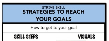Strategies to Reach Your Goal Social Skill Steps Poster - The Empower Program