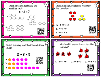 Strategies to Solve within 20  - TEK 1.3e,f CC 0A.6 - with or w/o QR codes