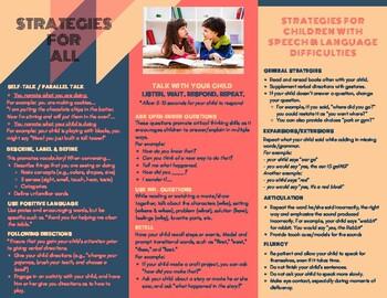 Language Stimulation Strategies - Kindergarten