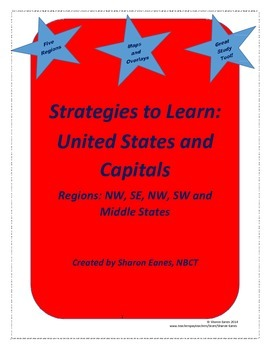 States and Capitals Study Tool and Assessment