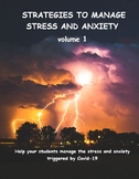 Strategies to manage stress and anxiety, volume 1, Covid-1