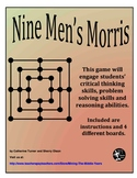 Strategy Board Game – Critical Thinking and Problem Solving – Nine Men's Morris