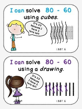 Strategy Cards ***FREEBIE*** (First Grade, 1.NBT.6)