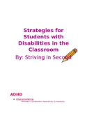 Strategy Cards for Students with Disabilities