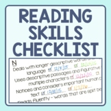 Reading Strategy Checklist - Guided Reading Level Skills