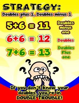 Strategy: Doubles Plus 1, Doubles minus 1 = Anchor Chart w