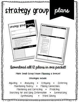 Strategy Group Lesson Plan - Adjusting