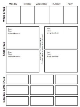 Strategy Grouping Planning Pages (Editable) for Reader's Workshop & More