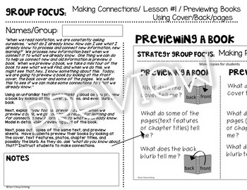 Strategy Groups Lessons 1st Grade Nonfiction Including Reading Passages