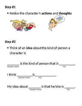 Strategy Lesson Plan understanding character traits