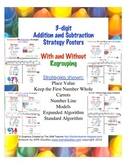 Strategy Posters for 3-digit addition & subtraction with a