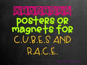 Strategy Posters for Cubes and Race