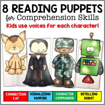 Reading Comprehension Strategies Paper Bag Puppets with Engaging Resources