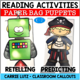 Reading Comprehension Activities ~ READING STRATEGIES Bag Puppets