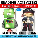 Paper Bag Puppets for Reading Comprehension Strategies Big Set
