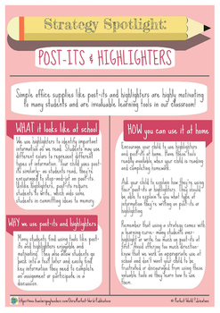 Strategy Spotlight: Post-Its & Highlighters