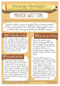 Strategy Spotlight: Provide Wait Time