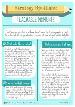 Strategy Spotlight: Teachable Moments