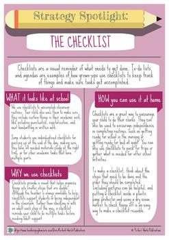 Strategy Spotlight: The Checklist