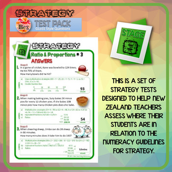 Strategy Tests Bundle - Stage 5-8 - Gloss Style Questions - New Zealand