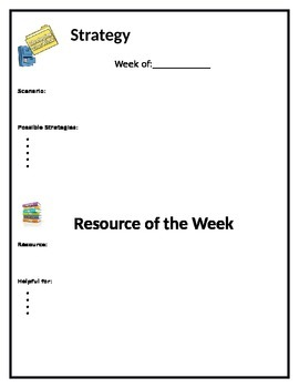Strategy and Resource of the Week