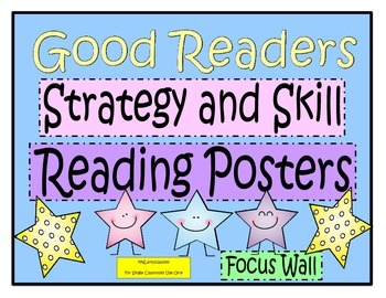 Reading Strategy and Skill Posters Focus Wall for Guided and Shared Reading