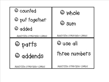 Strategy cards for constructed responses