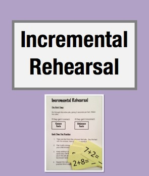 Strategy for Math Fact Strugglers: Incremental Rehearsal (