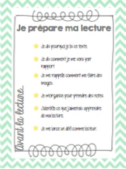 Stratégies de lecture - Affiches (French Reading Strategies Posters)
