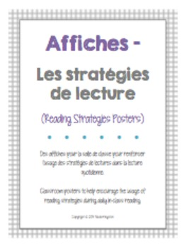 Stratégies de lecture - Affiches (French Reading Strategie
