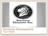 Stratton Oakmont Company Case Study - Business Management