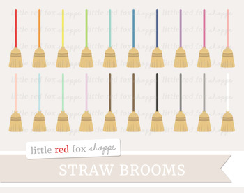 Straw Broom Clipart; Cleaning