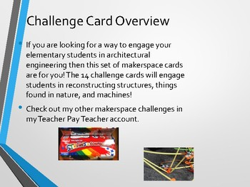 Straw Connector's Makerspace Challenge Card Set