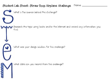 Straw Hoop Airplane: Engineering Challenge Project ~ Great STEM Activity!