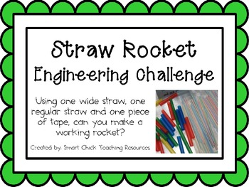 Straw Rocket: Engineering Challenge Project ~ Great STEM Activity!