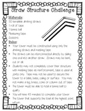 Straw Structure Challenge - STEM Activity