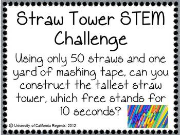NGSS Aligned: Straw Tower STEM Challenge