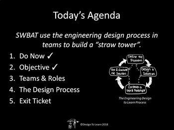 Straw Towers Engineering Design Challenge (Challenge #1)