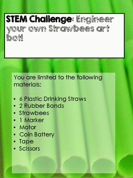 Strawbee's Challenges Perfect for Maker Space
