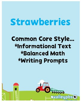 Strawberries Close Reading PRINT & GO!