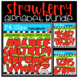 Strawberry Alphabet BUNDLE (P4 Clips Trioriginals)