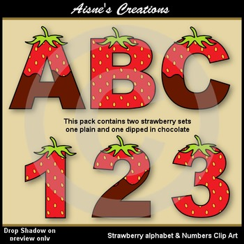 Strawberry Alphabet & Numbers