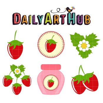 Strawberry Art Clip Art - Great for Art Class Projects!