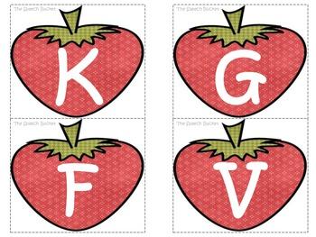 Strawberry Articulation Pack (k, g, l, s, z, th, f, v, r)