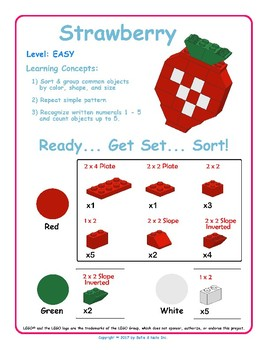 Strawberry - Brick Building Kit Instruction