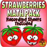 Strawberry Centers Math Activities Recording Sheets Berry Activities Worksheets